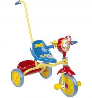 Детский трехколесный велосипед с ручкой  1201, цвет: красный Leader Kids