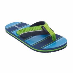 Шлепанцы SCool, цвет: синий/зеленый S'Cool