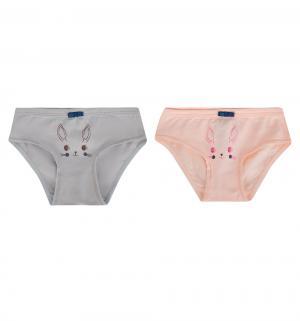 Комплект трусы 2 шт , цвет: серый/розовый Белый Слон