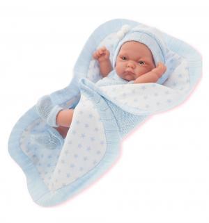 Кукла-младенец  Карла в голубом 26 см Juan Antonio