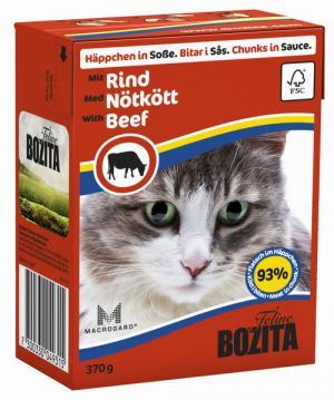 Влажный корм  для взрослых кошек, говядина, 370г Bozita