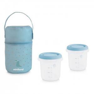 Термосумка Pack-2-Go Hermisized с 2 вакуумными контейнерами 2х250 мл Miniland