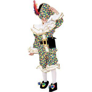 Карнавальный костюм  Арлекино для мальчика Veneziano. Цвет: разноцветный