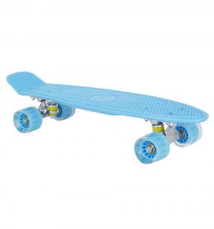 Скейтборд  S-2206E, цвет: голубой Leader Kids