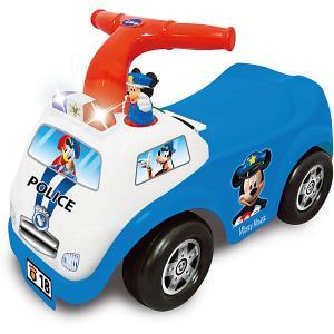 Каталка-пушкар Полицейская машина Микки Мауса Kiddieland. Цвет: синий/белый