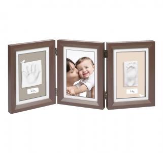 Рамка тройная  Классика коричневый Baby Art