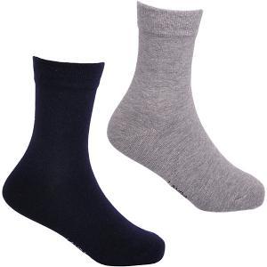 Носки , 2 пары Lansa. Цвет: сине-серый