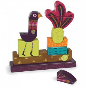 Деревянная игрушка  Пазл вертикальный Павлин Oops