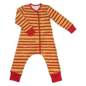 Комбинезон  Бордовая полоска, цвет: желтый Bambinizon