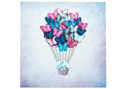 Мозаика из пайеток на холсте Воздушный шар Волшебная мастерская