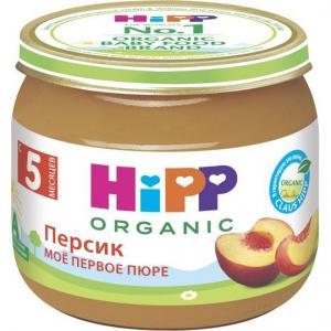 Пюре  персик с 4 месяцев, 80 г Hipp