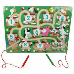 Игра магнитная Ферма QiQu Wooden Toy Factory