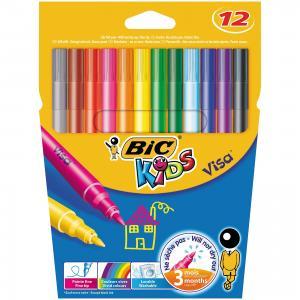 Цветные фломастеры  Виза 880 12 цветов BIC