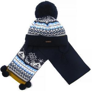 Комплект : шапка и шарф Gakkard. Цвет: темно-синий