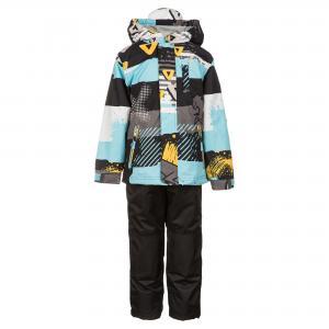Комплект (куртка и брюки) серо-голубой DEUX PAR. Цвет: голубой:серый