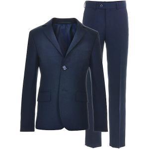 Костюм (пиджак+брюки)  для мальчика Silver Spoon. Цвет: синий