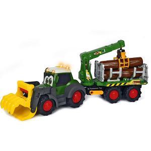 Лесовоз  Happy Fendt, свет, зву, 65 см Dickie Toys. Цвет: разноцветный