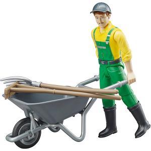 Фигурка фермера с тележкой и аксессуарами Bruder