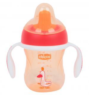 Чашка-поильник  Training cup полужесткий носик, с 6 месяцев, цвет: красный Chicco