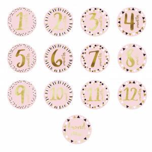 Стикеры от 1 до 12 мес Цифры Pearhead