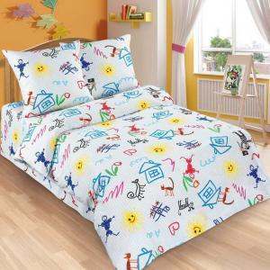 Комплект постельного белья  Переменка, цвет: белый 3 предмета Артпостель