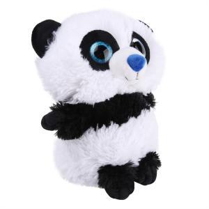 Мягкая игрушка  Панда Глазастик 29 см цвет: белый/черный СмолТойс