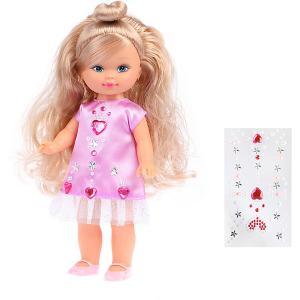 Кукла Наша Игрушка Уроки дизайна, 25 см, с наклейками Mary Poppins. Цвет: розовый