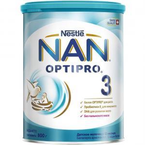 Детское молочко  Optipro 3 с 12 месяцев, 800 г Nan