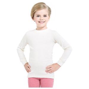 Футболка с длинным рукавом  для девочки Norveg. Цвет: бежевый