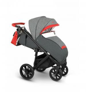 Прогулочная коляска  Cone, цвет: серый меланж/красный/белый Camarelo