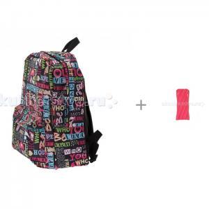 Рюкзак Хиппи с пеналом-сумочкой Neon Pouch 3D Bags