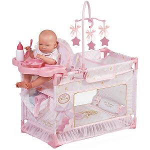 Игровой центр-манеж для кукол  Мария с аксессуарами, 59 см DeCuevas. Цвет: розовый