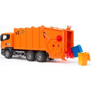 Мусоровоз Scania оранжевый Bruder