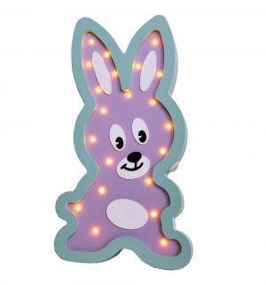 Светильник  Зайка, цвет: фиолетовый/бирюзовый Iwoodplay