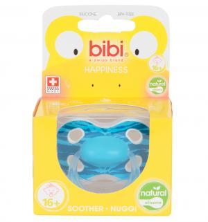 Пустышка  Happiness Ring Wild Baby силикон, с 6 месяцев, цвет: голубой Bibi