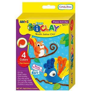 МАССА iClay для лепки  Забавные животные, 4 цвета по 15 гр., аксессуары. Amos. Цвет: желтый