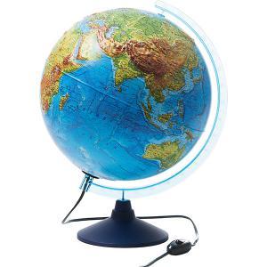 Интерактивный глобус Земли  физико-политический рельефный с подсветкой, 320мм Globen