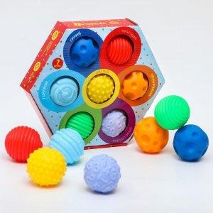 Набор развивающих массажных мячиков Цветик-семицветик 7 шт. Крошка Я