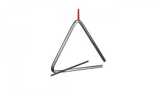 Музыкальный инструмент  Треугольник перкуссия 10 см Goki