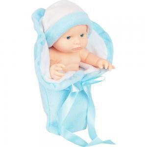 Кукла  с одеждой голубая 23 см Игруша