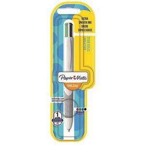 Шариковая ручка Paper Mate Quatro, 4 цвета в одной ручке. Цвет: голубой/зеленый