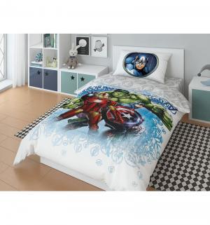 Комплект постельного белья  Marvel Avengers On guard, цвет: белый/голубой Нордтекс