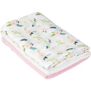 Набор пеленок , розовый, цветы Summer Infant. Цвет: розовый