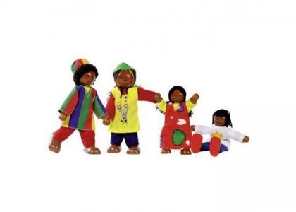 Куклы Семья африканская 4 в 1 Goki