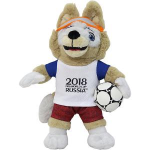 Мягкая игрушка FIFA-2018  Волк Забивалка, 21 см 1Toy. Цвет: разноцветный