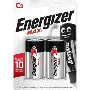 Батарейки алкалиновые  Max, тип C/LR14, 1,5 V, 2 шт Energizer