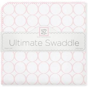 Фланелевая пеленка  Pink Mod, 110х110 см SwaddleDesigns. Цвет: розовый