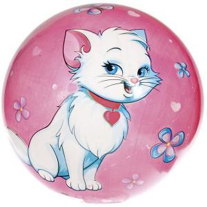 Мяч  Котята, 23 см Dema-Stil. Цвет: розовый/белый