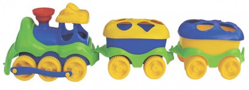 Развивающая игрушка  Паровозик с логическими фигурами Спектр