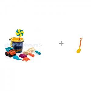 B.Summer Малое ведерко с игрушками для песка 9 деталей и детская лопата 70 см Gowi Battat
